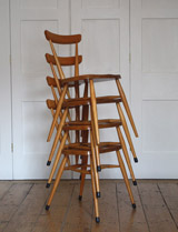 1957 stacking chairs by Ercol