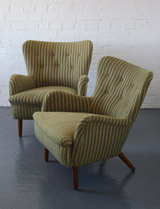 Pair of DA2 chairs by Ernest Race, 1949