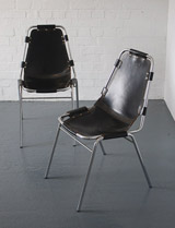 Pair of Charlotte Perriand Les Arcs chairs